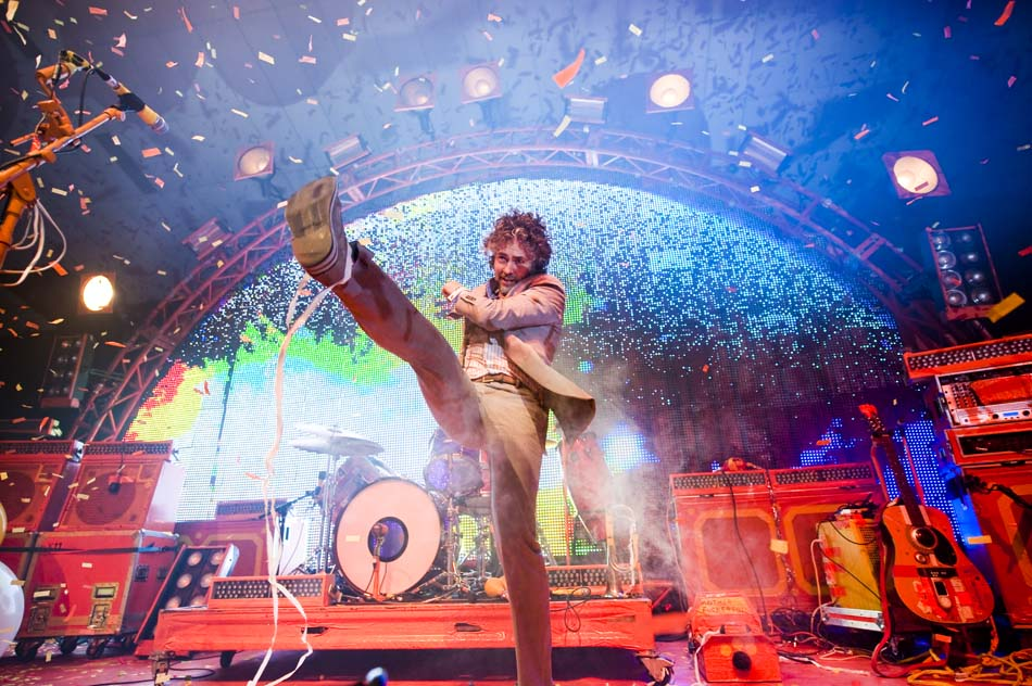 The Flaming Lips perform at Festival Hall in Melbourne Australia July 2009
