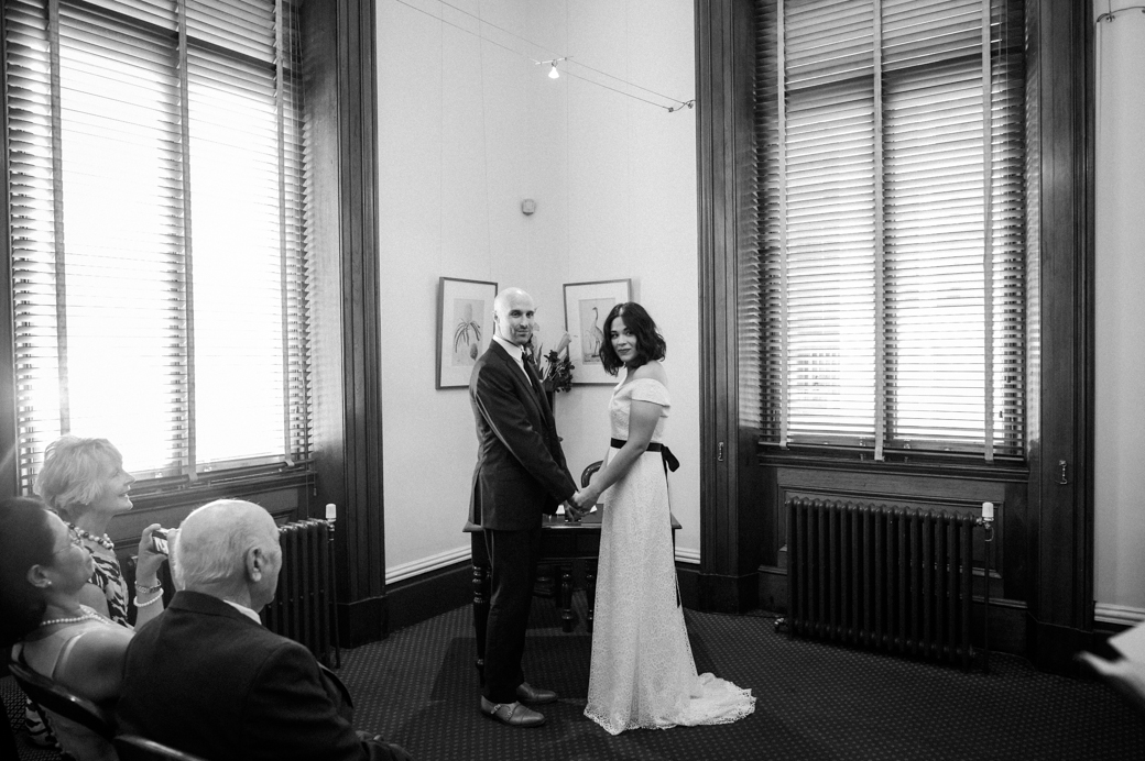 wedding photo at Melbourne marriage registry office