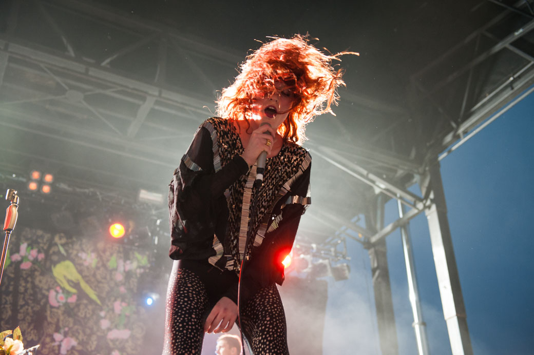 Florence Welch performs at Melbourne's Laneway Festival
