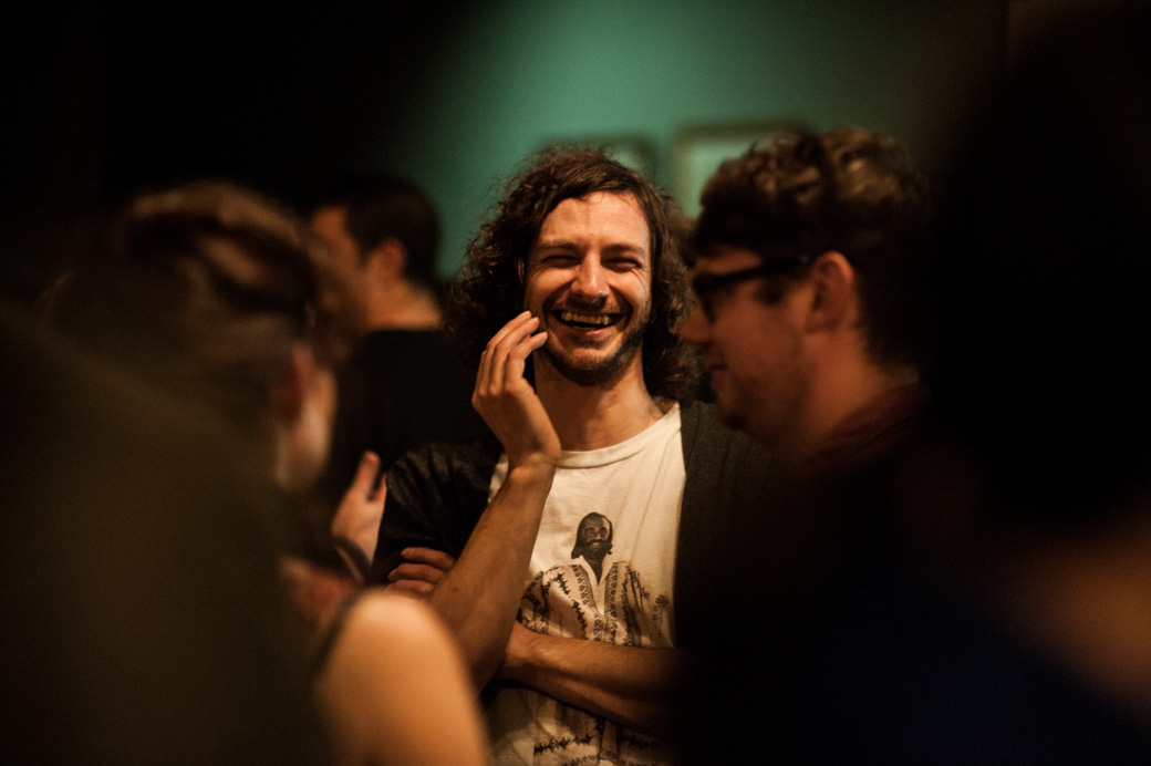 Gotye at the Double J launch in Melbourne