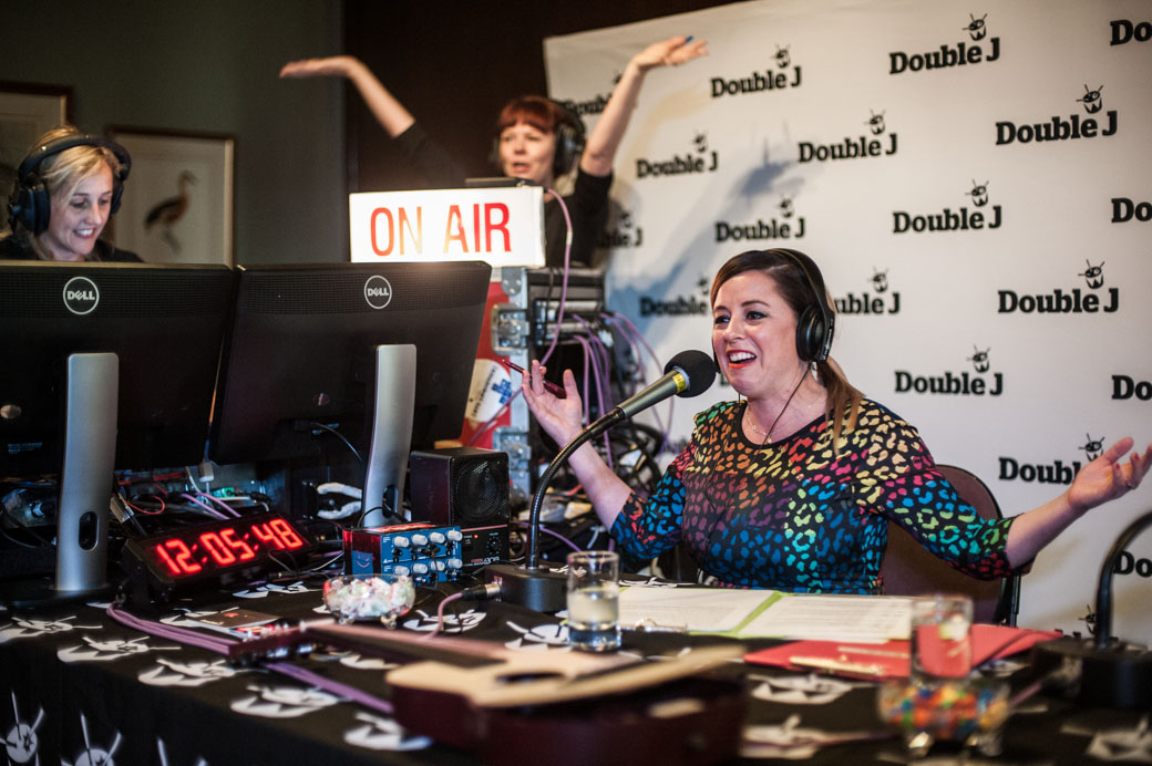 Myf Warhurst presents Double J's first broadcast