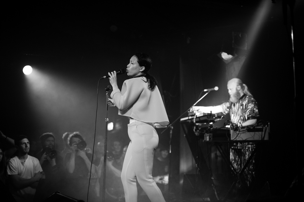 Yukimi Nagano of Little Dragon at The Corner Hotel in Melbourne