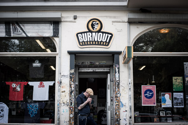 Burnout Record store in Hamburg
