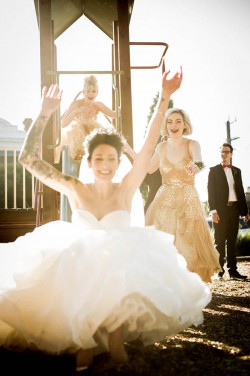 A modern rockabilly wedding
