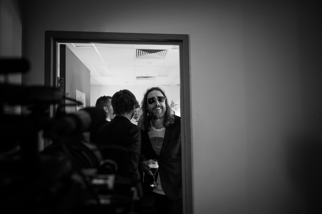 Kram backstage at the Forum