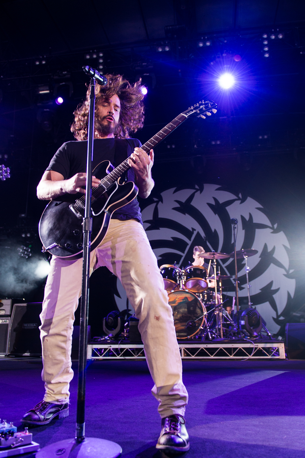 Chris Cornell of Soundgarden performs at Sidney Myer Music Bowl in Melbourne 2012
